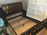 black and brown wooden bed frame Silver Spring, 20910