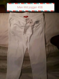 men's white jogger pants with text overlay Barrie, L4N