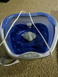 white, blue, and gray foot spa massager Surrey, V3S 7Y9