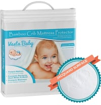 Baby Premium Ultra Soft Natural Bamboo Crib Mattress Protector