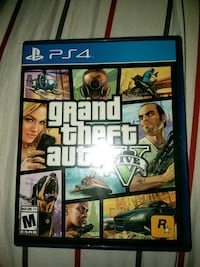Grand Theft Auto Five PS4 game case Perris, 92570