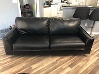 Black leather like (durablend) couch.  Must be able to pick up   Jacksonville, 32225