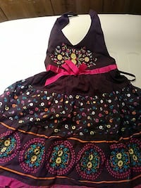 black, red, and pink floral halter neck sleeveless dress Middletown, 17057