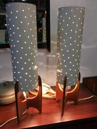 A set of two mid century lamps