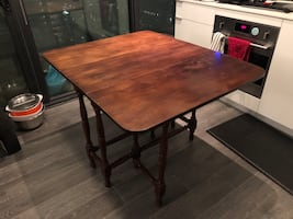 Hand Made Wooden Folding-Top Table
