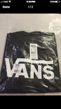 Black Mens Vans T-Shirt Calgary