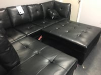 BLACK TUFTED SECTIONAL AND OTTOMAN! NOW JUST $799 CASH DEAL ONLY!  Coppell, 75019