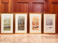 "Gustafson ""Four Birches"" Watercolor Prints. Beautiful Like New cond. Fairfax, 22030"