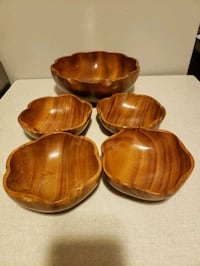 Salad Set Teak 5 Pieces Toronto, M6N 4M4