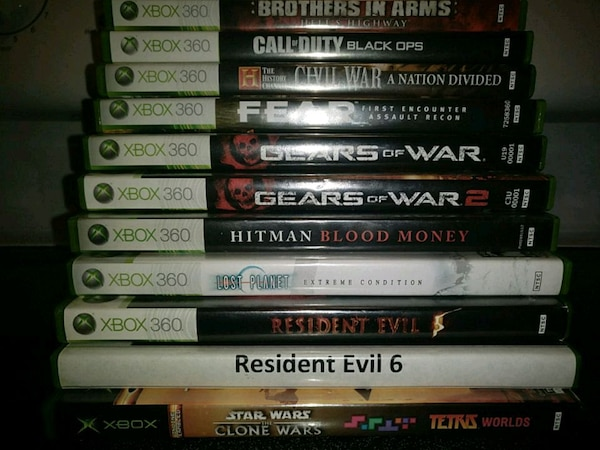 Used 10 xbox 360 Games and 1 original Xbox game for sale in