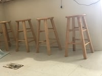 Four brown wooden bar stools Cresson, 76035