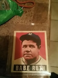 Babe Ruth 1948 baseball card London, N6B