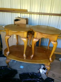 brown wooden table with chairs 389 mi