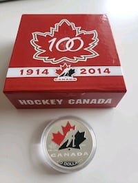 1914-2014 Canada Mint Hockey Canada 99.99  Pure Silver Coin  Calgary, T2R 0S8