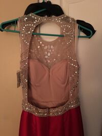 women's red and beige gown Surrey, V3T 4N8