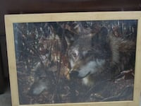 Framed Puzzle Picture of Wolves Forney