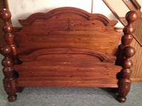 brown wooden headboard and footboard Clifton, 07013