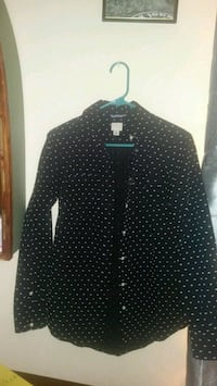 black and white polka-dot dress shirt Simsbury, 06070