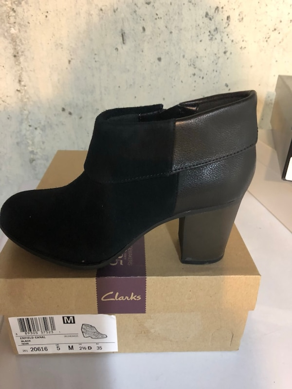 Black Clark's suede booties 2db68ebe-c20a-4312-8a90-914fe739330a