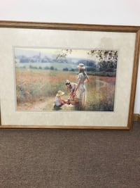 Picture 42 in x 31 in oak frame picture of woman and 2 girls   Arroyo Grande, 93420