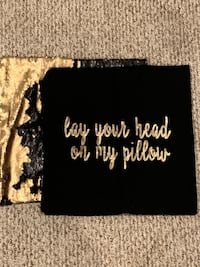 Stylish sequins black and gold accent pillow cases