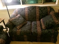brown and green floral 3-seat sofa Arlington, 22203