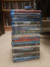 3D Blurays Disney Pixar Winnipeg, R3T 2G2