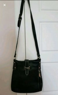 Black leather crossbody bag Calgary, T3N 0B3
