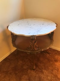Antique table with marble top Peabody, 01960