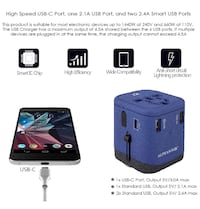 INTERNATIONAL POWER ADAPTER- BLUE Gardena, 90249