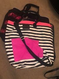 black and white stripe tote bag Centerville