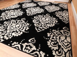 New 8x11 area rug black & white rug