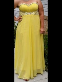 women's yellow sleeveless dress Waldorf, 20602