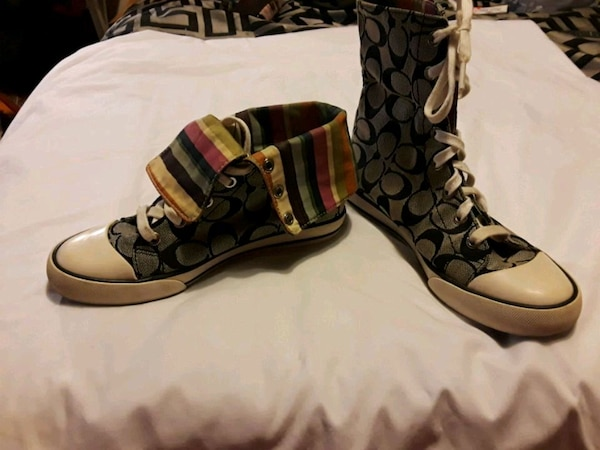 a214a095064b Used pair of brown leather high-top sneakers for sale in Tallahassee - letgo