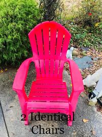 Outdoor Red Vinyl Chair (2) Wilmington, 28411