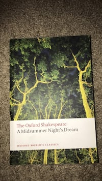 William Shakespeare  A Misummer Night's Dream - Oxford Edition Tallahassee, 32304