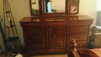 brown wooden dresser with mirror Alexandria, 22309