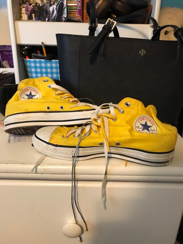 61c2f08dc371 Used pair of yellow high top Chucks for sale in Southfield - letgo
