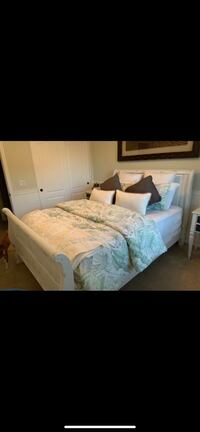 White Shabby Chic Queen Bed Frame Washington