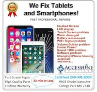 iPhone,iPad, Samsung & Tablets Repair Services College Park