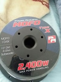 10 inch mofo subwoofers  (pair) Sterling, 20165