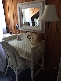 Wicker vanity and chair Perth, K7H 3C7