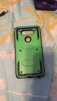 green and black smartphone case