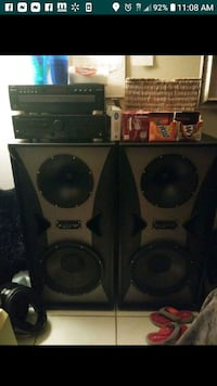 2- LARGE 15 inch Mach 2 Studio speakers. Ocala