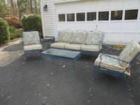 Wrought Iron Lawn Furniture Set Fairfax