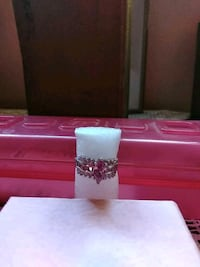 silver-colored with clear gemstone ring Albuquerque, 87105