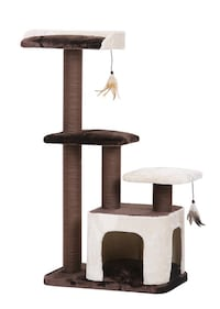 PetPals - Brown and Cream Three Level Cat Tree  COMPARE at $140