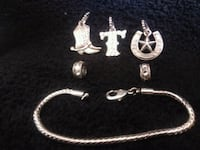 Stainless steel bracelet with charms Brampton, L6W 1G8