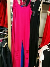 pink scoop-neck spaghetti-strap jumpsuit with knee cutouts Toronto, M1L 2L6