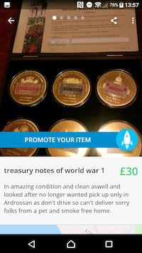 Treasury notes of world war 1  North Ayrshire, KA22 8EX